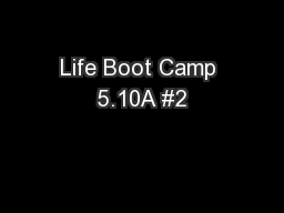 Life Boot Camp 5.10A #2