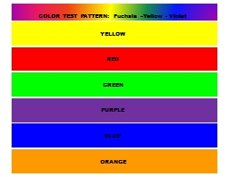 YELLOW RED GREEN PURPLE BLUE