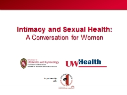 Intimacy and Sexual Health: