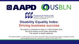 Disability Equality Index: