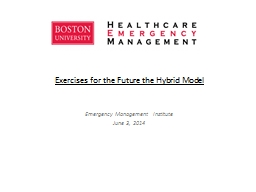 Exercises for the Future the Hybrid Model