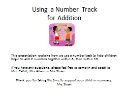 Using a Number Track  for Addition