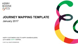 JOURNEY MAPPING TEMPLATE PowerPoint PPT Presentation
