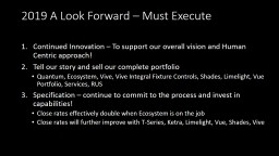 2019 A Look Forward – Must Execute PowerPoint PPT Presentation