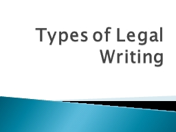 Types of Legal Writing Lawyering Process