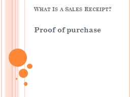 What Is a Sales Receipt?