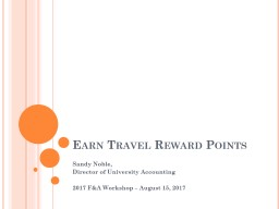 Earn Travel Reward Points