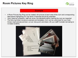 Room Pictures Key  Ring Example