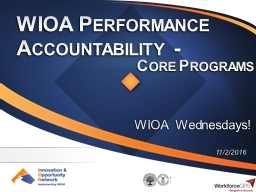 WIOA Performance Accountability -