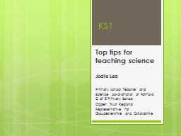 KS1  Top tips for teaching science