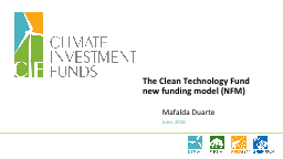 Clean Technology Fund (CTF)