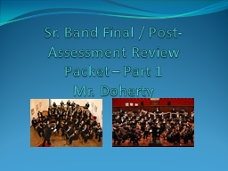 Sr. Band Final / Post-Assessment Review Packet – Part 1