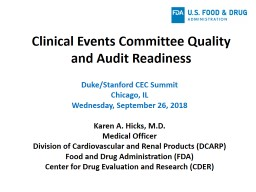 Clinical Events Committee Quality