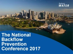 The National Backflow Prevention Conference 2017