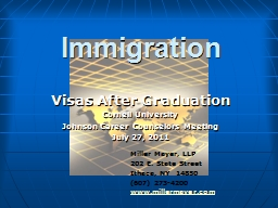 Immigration Visas After Graduation