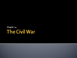 The Civil War Chapter 14