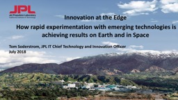 Innovation at the Edge  How rapid experimentation with emerging technologies is achieving results o