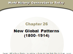 Chapter 26 New Global Patterns