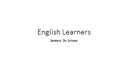 Planning for  English  Learners