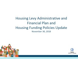 Housing Levy Administrative and Financial Plan and
