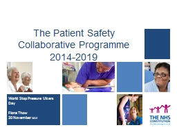 The Patient Safety Collaborative Programme 2014-2019