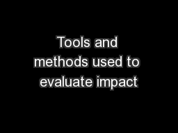 Tools and methods used to evaluate impact