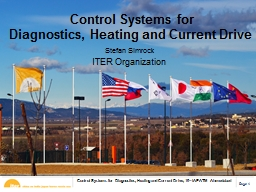 Control Systems for  Diagnostics, Heating and Current Drive