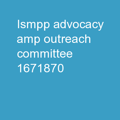 ISMPP Advocacy & Outreach Committee