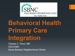 Behavioral Health  Primary Care