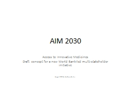 AIM 2030 Access to Innovative Medicines
