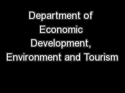 Department of Economic Development, Environment and Tourism