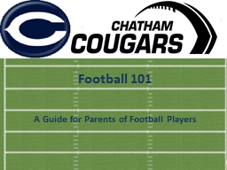 Football 101 A Guide for Parents of Football Players