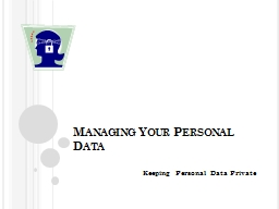 Managing Your Personal Data