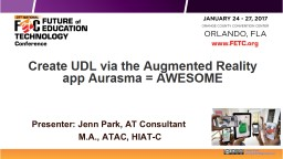 Create  UDL via  the Augmented Reality app
