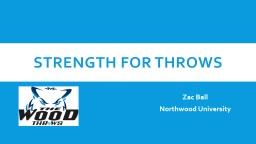 Strength for throws Zac Ball