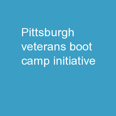 Pittsburgh Veterans Boot Camp Initiative