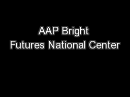 AAP Bright Futures National Center