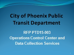 City of Phoenix Public Transit Department