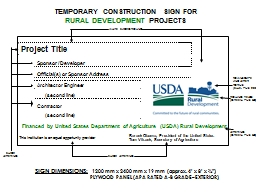 TEMPORARY CONSTRUCTION SIGN FOR