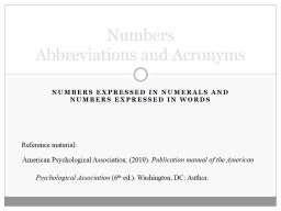 Numbers expressed in numerals and numbers expressed in words PowerPoint PPT Presentation