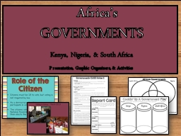 GOVERNMENTS Presentation, Graphic Organizers, & Activities