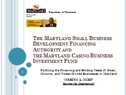 The  Maryland  Small Business