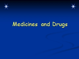 Medicines and Drugs Warm-Up Questions
