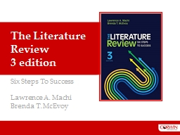 The Literature Review 3 edition PowerPoint PPT Presentation