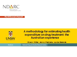 A methodology for estimating health expenditure on drug treatment: the Australian experience