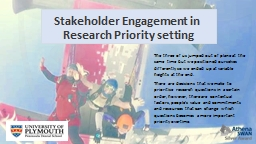 Stakeholder Engagement in