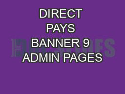 DIRECT PAYS BANNER 9 ADMIN PAGES