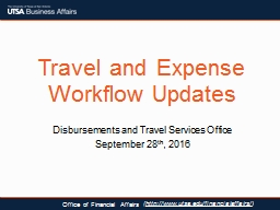 Travel and Expense Workflow Updates