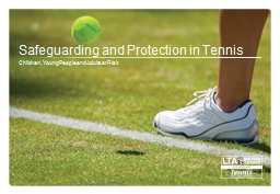 Safeguarding and Protection in Tennis