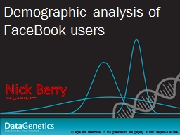Nick Berry Demographic analysis of